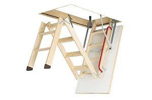 Escada para Sótão Madeira LWK Komfort FAKRO / 70cm x 130cm ( PÉ DIREITO até 3,05m )