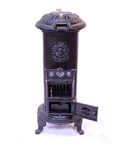 Salamandra Francesa Ferro Fundido Carvão Lenha Original Marumby !!
