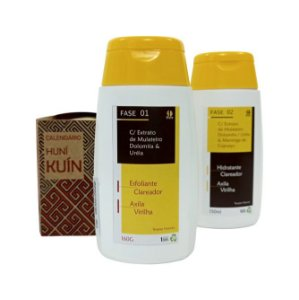 KIT CLAREADOR AXILA / VIRILHA / PESCOÇO - Extrato de Mulateiro - Dolomita - Ureia -  (kit com 02 produtos)