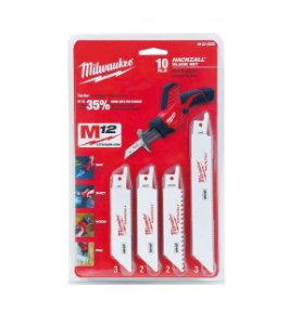 Kit Lamina Mini Serra Sabre C/10 Pçs 49-22-0220 Milwaukee