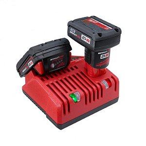 Carregador de Bateria Multi 12v e 18v Bivolt Milwaukee 48-2159