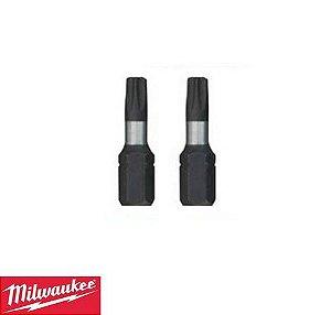 Bit Torx Tx40 X 25mm 5 Pacotes Com 2 Bits Cada - 4932352599 Milwaukee