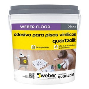 Adesivo para Pisos Vinílicos 4kg - Quartzolit 0387.00000.0004GL