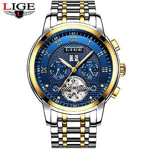 65e986bccbc Relógio de Luxo Masculino LIGE Full Steel Business