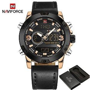 d71611f5d01 Relógio de Luxo Masculino NAVIFORCE Military Watch Man Quartz