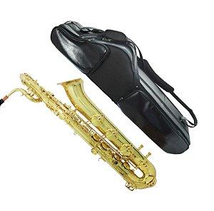 Estojo para saxofone baritono em couro natural - MEC33