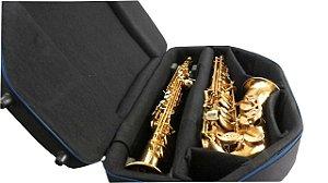 Mbags Estojo duplo para Sax alto e Sax soprano