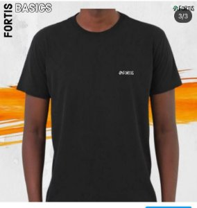 Camiseta  Fortis Basic Preta
