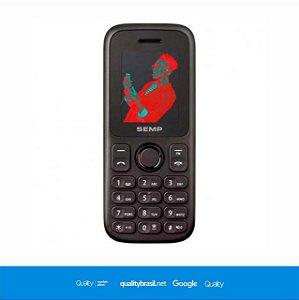 Celular Semp Go 1C, 2 Chips, Câmera, MP3, Rádio FM - Preto