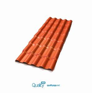 Telha Plana Colonial PVC 2,42X0,88 6 Ondas Afort