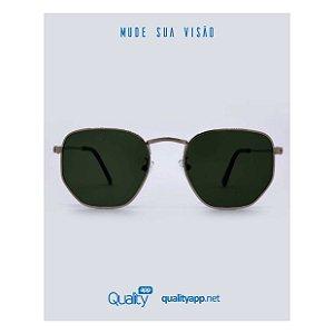 Óculos Detroit Rose Gold com Preto
