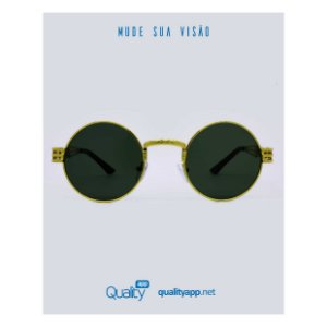 Óculos Drop Preto com Dourado