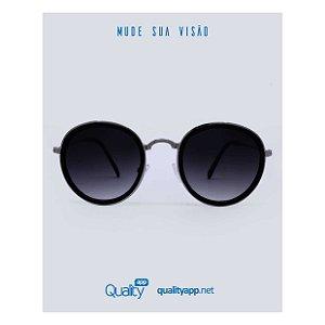 Óculos Milão Preto com Prata