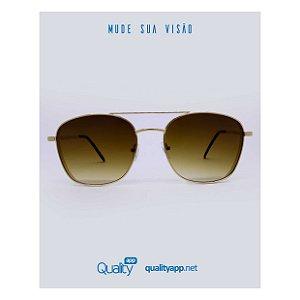 Óculos London Marrom com Dourado Degradê