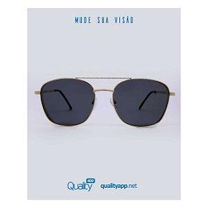 Óculos London Preto com Dourado