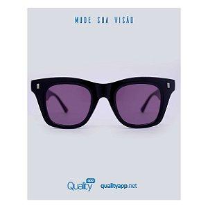 Óculos Madrid Preto com Vinho