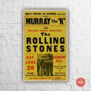 Quadro Poster Stones Carnegie Hall, New York 1964