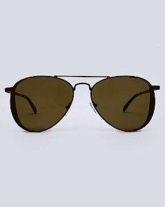 Óculos Aviador Marrom