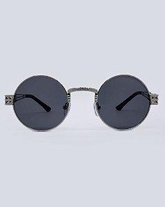 Óculos Drop Prata com Preto