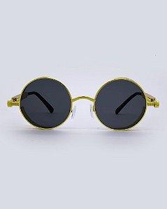 Óculos Vegas Preto Com Dourado