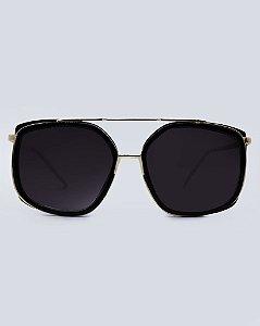 Óculos Zurique Preto com Dourado