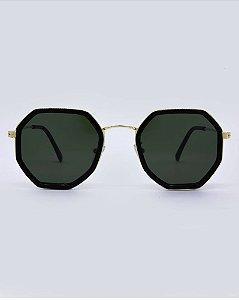Óculos Dublin Preto com Dourado