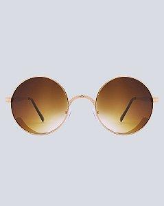 Óculos Arizona Marrom com Dourado
