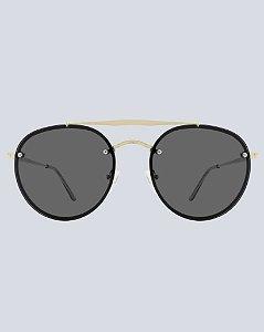 Óculos Aviador Colina Preto com Dourado