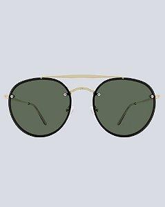 Óculos Aviador Colina G15 com Dourado