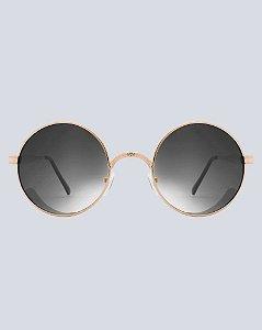 Óculos Arizona Preto com Dourado