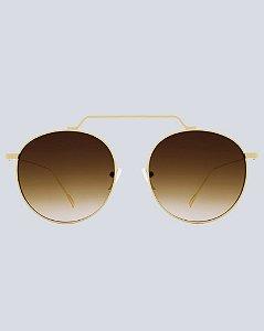 Óculos Mônaco Marrom Degradê com Dourado