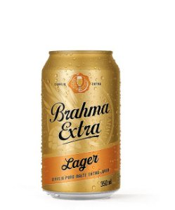 Brahma Extra Lager  - Lata 350ml c/12 unidades