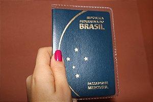 Capa para passaporte transparente