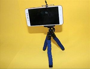 Tripé moldável para celular e câmeras de ação
