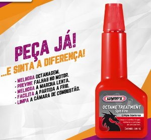 Aditivo para aumentar a octanagem da Gasolina - Wynn's Octane Treatment Spit Fire 220 ml