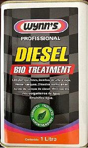 Limpa Injetores bomba de alta e baixa, filtros e dissolve o verniz do fundo do tanque - Mata fungos e bactérias - Wynn's Diesel Bio Treatment 1 Lt