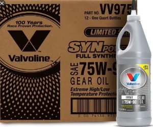 Óleo de Câmbio e Diferencial Sintético Valvoline SYNPOWER GEAR OIL 75W90 LS 946 ml