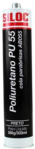 SILOC PU 55 Preto 366 g/310 ml - Cola Para-brisa / Faróis
