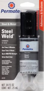 Permatex Stell Weld EPOXY Titanium 25 ml - AÇO E METAL  (PX84109)