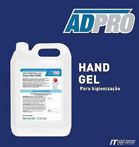 Alcool Gel para higienização das mãos a seco ADPRO 5 lts