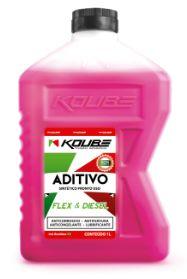 KOUBE Aditivo Radiador Sintético Pronto uso Rosa FLEX e DIESEL 1 lt