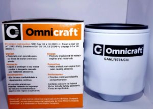 Filtro de ÓLEO Omnicraft GAMJ/6731/CA - Aplicação VW
