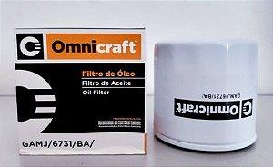 Filtro de Óleo Omnicraft GAMJ/6731/BA - Aplicação GM