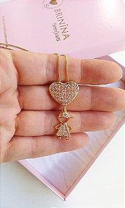 Colar coração filho Ane Banhado em ouro 18k