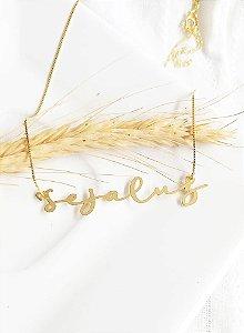 Colar personalizado Seja Luz Carol banhado a ouro 18k