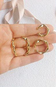 Kit de brincos Juliette banhados em ouro 18k
