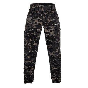 Calça Militar Tática Combat Camuflado Multicam Black Forças Especiais Invictus