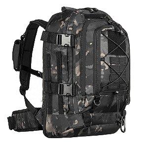 Mochila Militar Invictus Duster Camuflada Multicam Black
