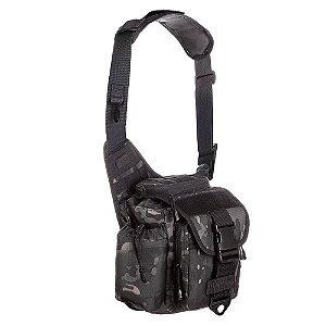 Bolsa de Ombro Militar Urban Camuflada Multicam Black Invictus