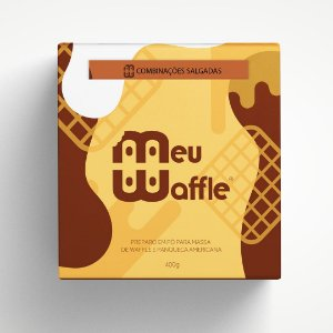 Preparo em pó para massa de Waffle e Panqueca Americana - Sabor COMBINAÇÕES SALGADAS